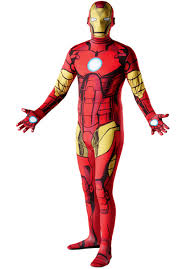 skin suits halloween iron man 2nd skin costume iron man fancy dress escapade uk