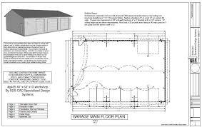 good garage workshop plans delightful 14 garage workshop plans and
