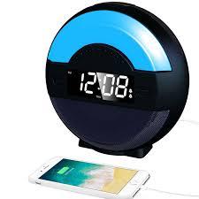 clock radio with night light svinz dual alarm clock radio with bluetooth speaker and usb charging
