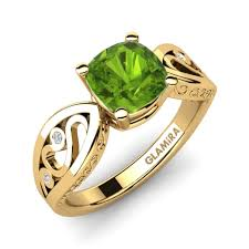 peridot engagement ring order peridot engagement rings glamira