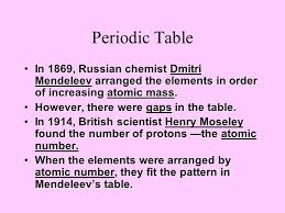 How Does The Modern Periodic Table Arrange Elements Who Discovered Periodic Table Arranged By Atomic Number Periodic