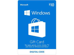 buy digital gift cards microsoft windows store gift card 10 email delivery newegg