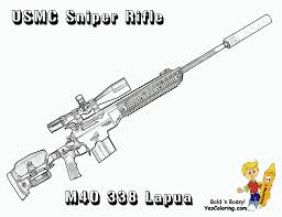 sniper rifle marine corps m40 338 lapua gun coloring pages other
