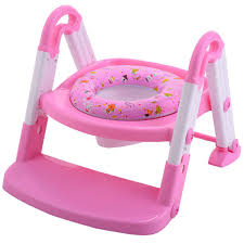 Pink Swinging Baby Chair 3 In 1 Baby Potty Training Toilet Chair Seat Step Ladder Trainer