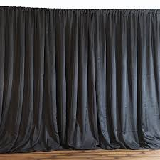 backdrop fabric 20 x 10 black fabric backdrop curtain from balsa circle