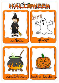 halloween flashcards worksheet free esl printable worksheets