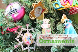 meaningful ornaments from a a glue gun tradition