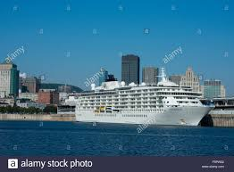 canada quebec montreal the world cruise ship docked in montreal