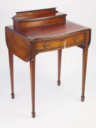 Small Mahogany Desk Small Antique Mahogany Ladys Writing Desk Davenport 307277