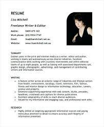 Writer Resume Template Sample Resume For Freelance Writer U2013 Topshoppingnetwork Com