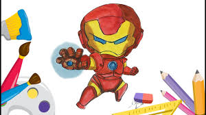 how to draw ironman the avengers chibi marvel superhero