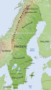 map of sweden sweden physical map