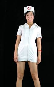 white pvc nurse halloween costumes cosercosplay com