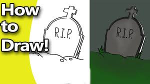 how to draw coloring pages how to draw a halloween tombstone step by step with free coloring