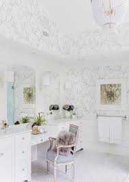 Silver Bathroom Wallcovering Design Ideas - Silver bathroom