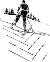 coloring page skiing going uphill img 15943