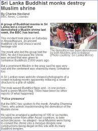 The Latest Terrorist Lanka Sri Lanka Bravo Buddhists Step Up Attacks On Muslims