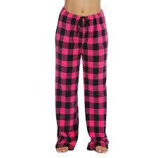 buffalo plaid plush fleece pajama pant walmart