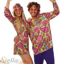 mens ladies 60s 70s hippy hippie disco fancy dress costume