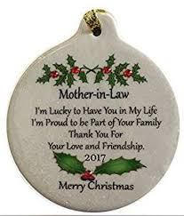 amazon com mother in law porcelain 2017 porcelain ornament gift