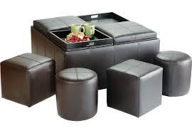 ridgeville brown storage ottoman ottomans brown