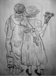 pencil sketches u0026 painting valentine day