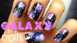 easy galaxy nail art tutorial for beginners youtube