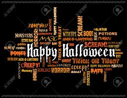 orange and black halloween background happy halloween and other scary words on a black background