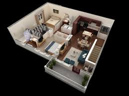 1000 square feet 3d 2bhk house plans small houses pinterest