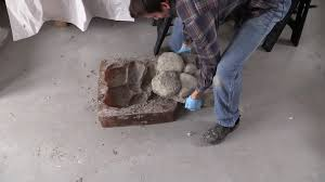 How To Make Fire Pits - how to make concrete rocks for rock walls fire pits walk ways
