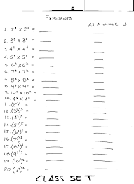 Of Exponents Worksheet 6 1 The Of Exponents Lessons Tes Teach