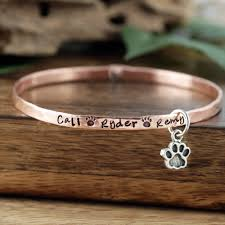 personalized bangle sted pet name bracelet dog bracelet personalized