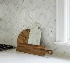Herringbone Marble Backsplash gray and white marble backsplash design ideas