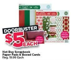 black friday buy scrapbook paper pads and boxed