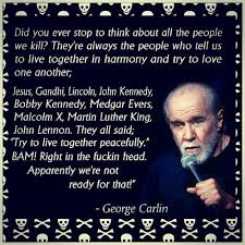 George Carlin Meme - george carlin beauty is inside