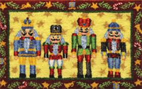 Hand Hooked Rug Kits Christmas Hooked Rugs Roselawnlutheran