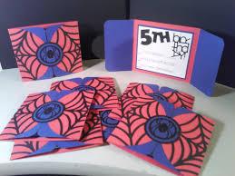 Spiderman Invitation Cards Happily Ever Crafty Lj U0027s 5th Birthday Invitations