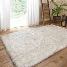 Faux White Sheepskin Rug Faux Fur Rugs U0026 Area Rugs For Less Overstock Com