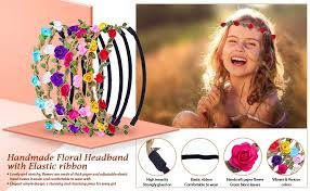headband flowers eboot 7 pieces flower headband hair band for