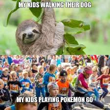 Pokemon Kid Meme - my kids walking their dog my kids playing pokemon go make a meme