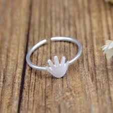 silver hand rings images Qimingnew arrival silver hand shape rings for women jewelry jpg