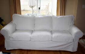 ikea slipcovered sofa the new couch