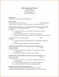 Working Student Resume Student Resume Format 21 9 Examples For College Students First Job