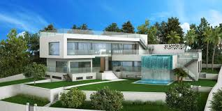 fantastic new project of a modern style villa in santa ponsa