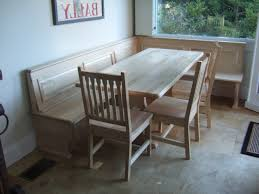 Bench Seat With Table Kitchen Table With Bench Seat And Chairs Home Design Ideas