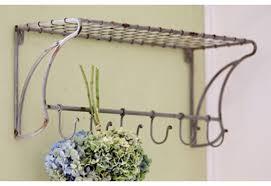 wall coat rack coat hooks wire shelf