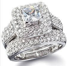 aliexpress buy 2ct brilliant simulate diamond men white gold simulated diamond rings wedding promise diamond
