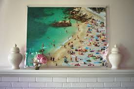 Large Beach Umbrellas For Sale Diy Extra Large Aerial Beach Photo In Frame Effortless Style Blog