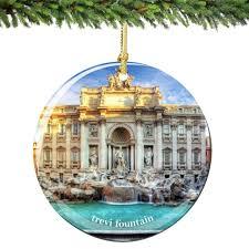 rome trevi ornament porcelain italy