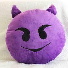 Purple Sofa Pillows by Buy Emoji Decorative Throw Pillow Stuffed Smiley Cushion Home